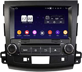 8 Inch TouchscreenAndroid 9.0 OS Car Radio Compatible with Mitsubishi Outlander(2006-2013), DVD Player Bluetooth DAB+ Radi...