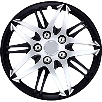 "Pilot Automotive Gloss Black E Series Hub Cap Snap On 15/"" Inches Set of 4"