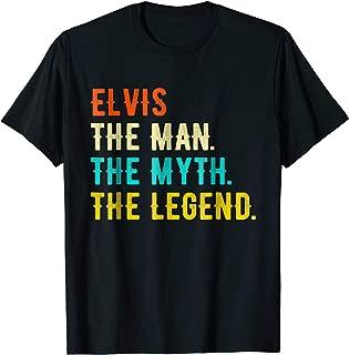 ELVIS The Man The Myth The Legend T-Shirt Vintage Tee