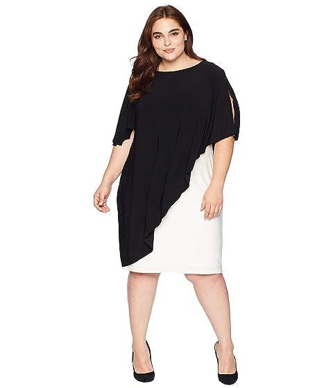 37883f30e47 LAUREN Ralph Lauren Plus Size Matte Jersey Naila Short Sleeve Day Dress