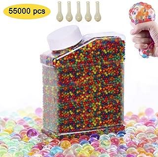 SUPERSUN 55,000 PCS Bolas de Gel de Agua, Perlas de Gel para decoración, Plantas, Flores, Mezclados cristalino Hidrogel Bolas de Gel para Decoración