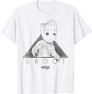 Marvel Guardians Vol2 Groot Cute Triangle Spacesuit Camiseta