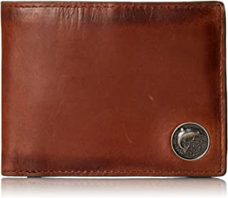 Weber's Leathers Men's Caramel Brown Billfold with Trout Concho