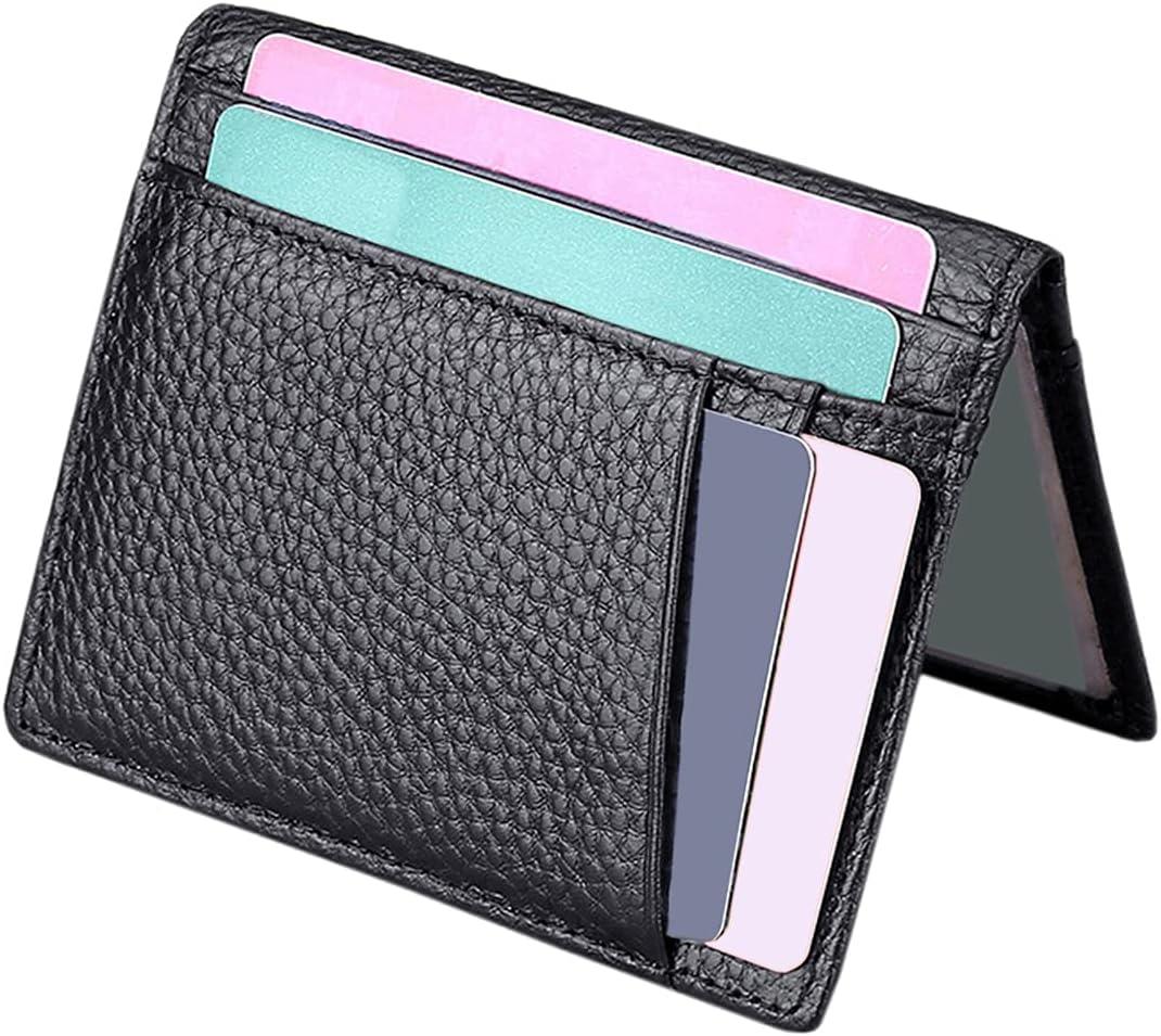 Slim Card Wallet   Bifold Card Case   Front Pocket Wallet   Minimalist Credit Card Holder