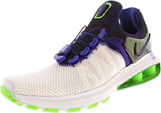 Women's Shox Gravity Running Shoes-White/Fusion Violet-9.5