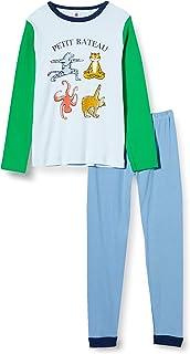 Petit Bateau Pijama de Animales de Yoga pequeño para niño en el Lado