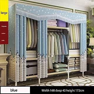 YUNXIAOHONG Wardrobe-Curtain Closet-Portable Wardrobe Blue 16845172cm