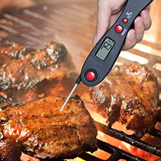 ALOVEMO Instant Read Meat Thermometer - Best Waterproof Ultra Fast Thermometer with Backlight & Calibration Digital Food Thermometer for Kitchen, Outdoor Cooking, BBQ, and Grill!