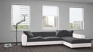 Linen Depot Direct 22347 N&D White 48 x 84 Night & Day Roller Blind 48