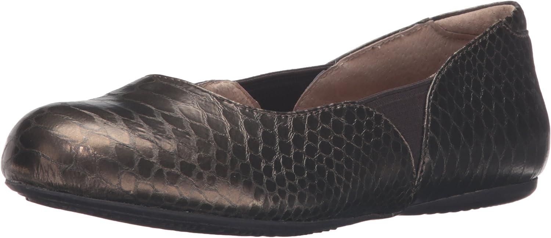 SoftWalk Woherren Norwich Ballet Flat, Bronze Snake, 9 N US  | Praktisch Und Wirtschaftlich