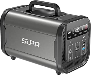 SUPA ポータブル電源 蓄電池 120000mAh/384Wh 大容量 非常用電源 家庭アウトドア両用電源 純正弦波 リン酸鉄リチウム電池 2000回充放電サイクル AC(300W 瞬間最大600W)/Type-C(PD60W)/DC/USB...