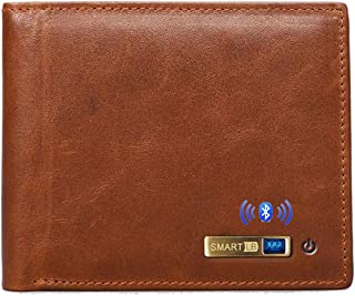 $37 » Smart LB Anti-Lost Bluetooth Wallet with Alarm, Position Record (via Phone GPS), Multi-Functional Bifold Cowhide Leather P...