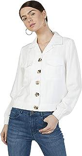 Iconic Women's 2091042 SS23POCKTJKT Woven Down Jacket, Ivory