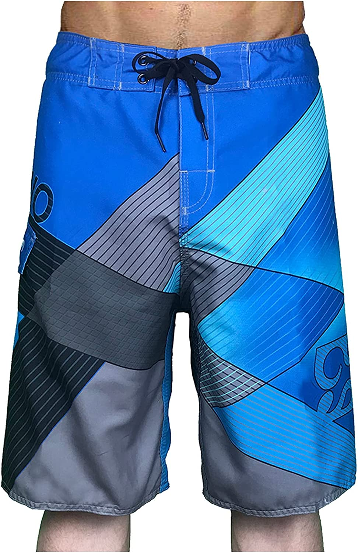 FUNEY Men's Bermuda Shorts Workout Active Sweat Shorts Casual Pajama Shorts with Drawstring,Quick Dry Cargo Shorts