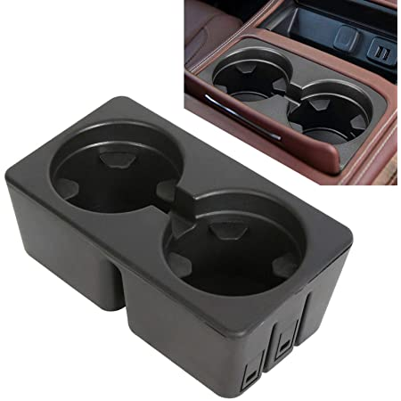 Sierra OxGord Dual Cup Holder Insert Best for 07-14 Silverado Suburban Avalanche 19154712 OEM Replacement Floor Mounted Front Center Console Beverage Drink Insert Yukon Escalade