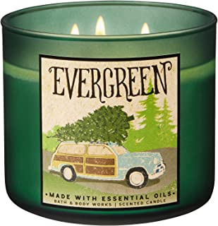 Bath and Body Works 2018 Holiday Limited Edition 3-Wick Candle (Evergreen)