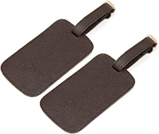 Sponsored Ad - Logical Leather Luggage Tag Genuine Leather Travel ID Tags with Adjustable Leather Strap, Address Card and ...