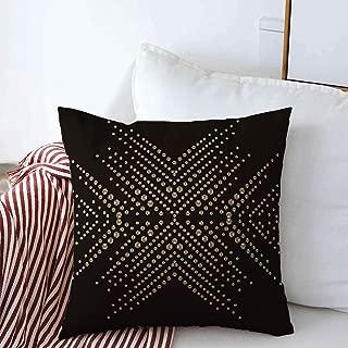 Starosa Pillow Case Gemstone Snowflake Rhinestone Applique Luxury Crystal Studs Embellishment Brilliants for Jewelry Decorative Farmhouse Throw Pillowcase Covers 16