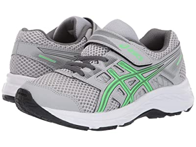 ASICS Kids Gel-Contend PS (Toddler/Little Kid) (Mid Grey/New Leaf) Boys Shoes