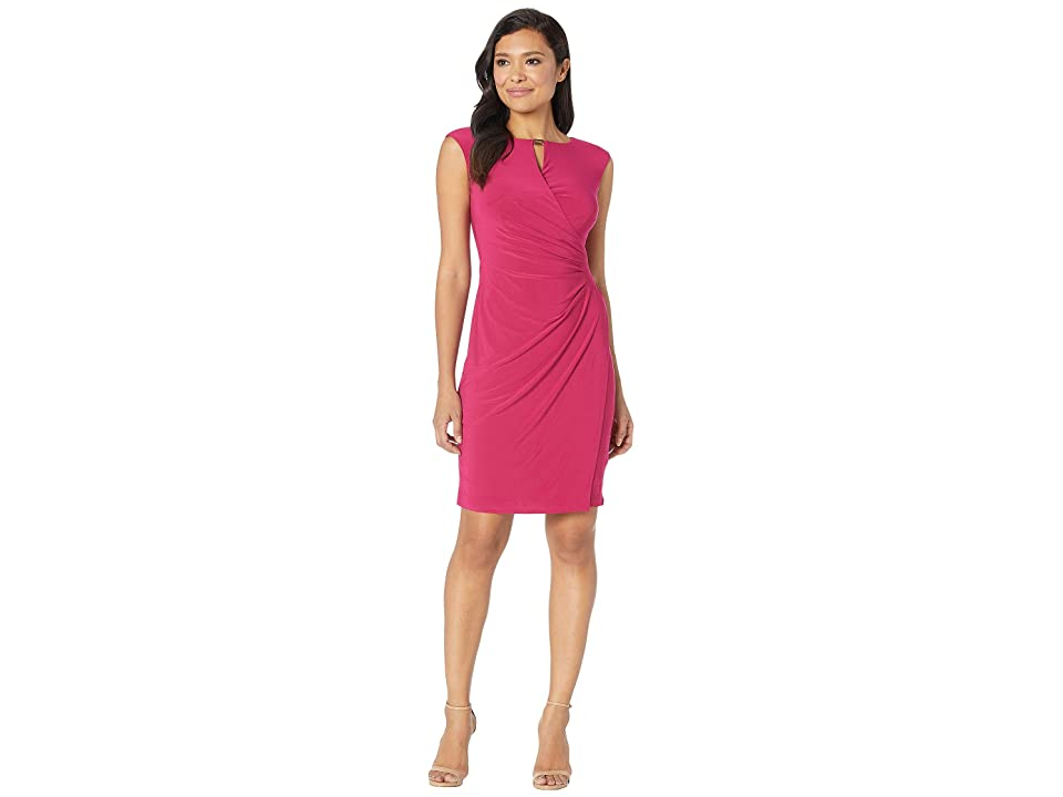 LAUREN Ralph Lauren Elkana Matte Jersey Dress (Bright Orchid) Women