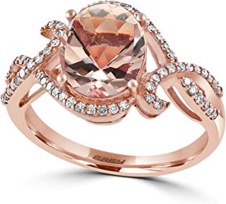 Blush Morganite (2-7/10 ct. t.w.) and Diamond Accent Ring in 14k Rose Gold
