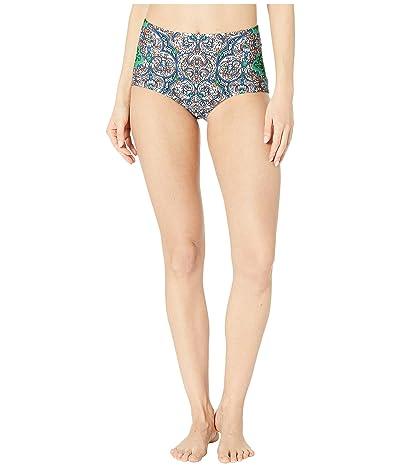 Tory Burch Swimwear Printed High-Waisted Bottoms (Grand Voyage Classic) Women