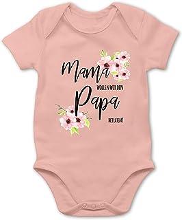 Shirtracer Anlässe Baby - Mama wollen wir den Papa heiraten Blumen - Baby Body Kurzarm für Jungen und Mädchen