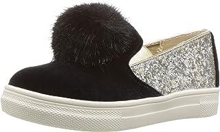 حذاء رياضي NINA للفتيات بتصميم هاني، أسود، مقاس 2 وسط للأطفال الصغار