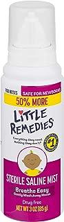Little Remedies Sterile Saline Nasal Mist | Safe for Newborns | 3 Fl Oz (Pack of 1) (50% More)