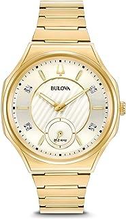 Bulova - Reloj Analógico para Mujer de Cuarzo con Correa en Acero Inoxidable 97P136