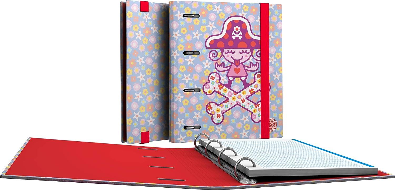 A5 Cuadr/ícula 5mm y Borde de Color Grafopl/ás 88111952 Colecci/ón Katuki Saguyaki Carpeta con Recambio Multicolor 100 Hojas Microperforadas