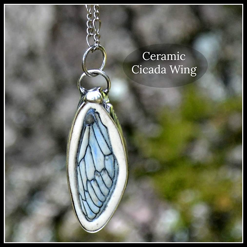 Cicada Wing Necklace, Handmade Bug Jewelry, Long Necklace for Women, Gift for Nature Lover 2801f