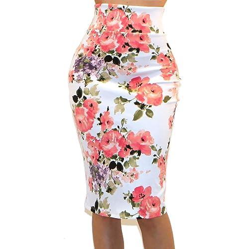 af88fe0b40a2 Vivicastle Women's USA High Waist Band Bodycon Career Office Midi Pencil  Skirt