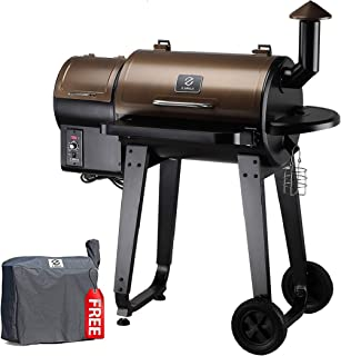 Z GRILLS ZPG-450A 2020 Upgrade Wood Pellet Grill & Smoker 6 in 1 BBQ Grill Auto Temperature...
