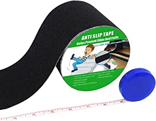Anti Slip Tape , High Traction,Strong Grip Abrasive , Not Easy Leaving Adhesive Residue , Indoor & Outdoor, with Measuring Tape (4