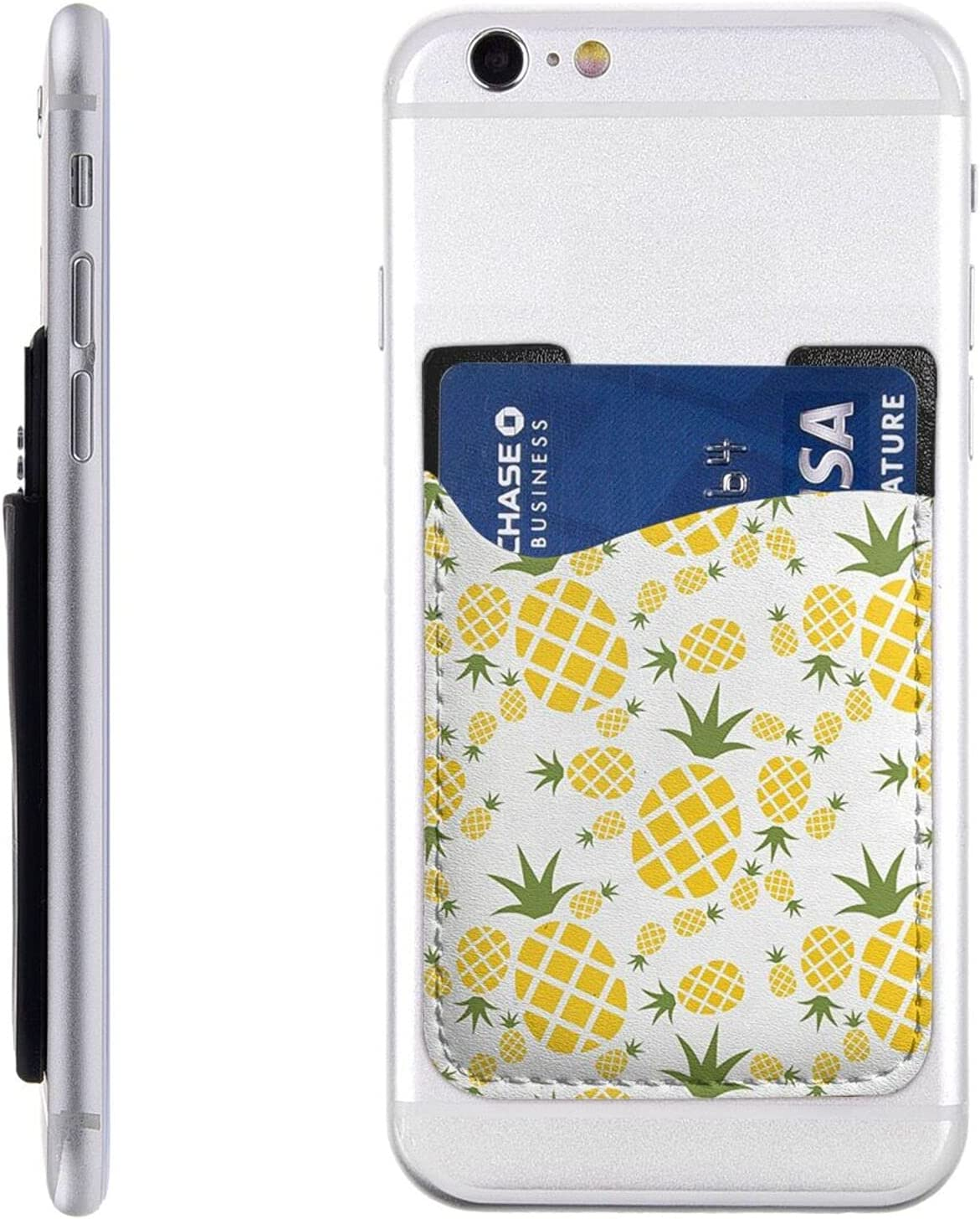 Pineapple Phone Card Holder Max 52% OFF Cell Stick On Slee Wallet Large discharge sale