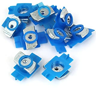 Aexit 10pcs M6 Nails, Screws & Fasteners x 6mm Plastic Cover Non Spring Plain Channel Nuts for Nut & Bolt Sets B-Line Channels