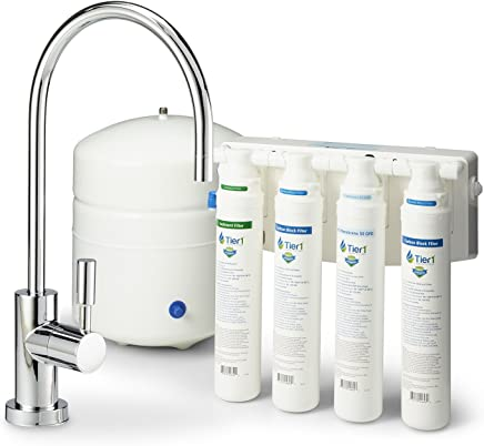 4 Stage Quick Change Reverse Osmosis Water Filtration System 50 GPD - TIER1-R.