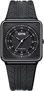 Men's Wrist Watch, Fashion Waterproof Sports Quartz Watch for Men with Square Case