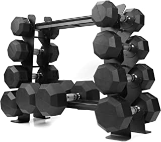 XPRT Fitness Heavy-Duty Dumbbell Rack - Dumbbell Storage Rack, Holds up to 400 lbs. - 2 Tiers Rack, Ideal for 5-30 lbs. Du...