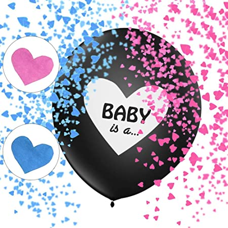 Gender Reveal Party Kit, Gender Reveal Party Palloncini, Boy or Girl Balloon, Rosa e Blu Coriandoli, Sesso Display Decorazione Ragazzo o Ragazza, Forniture per Feste Visualizzazione Genere Bambino
