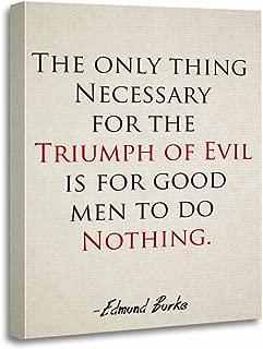 TORASS Canvas Wall Art Print Edmund Inspirational Quote If Good Men Do Burke Artwork for Home Decor 16