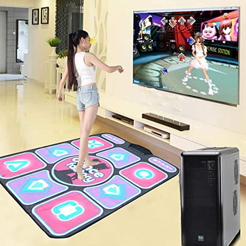 high quality OPTIMISTIC Musical Step Dance Mat for Kids & Adults, Anti-slip Wired Dance online sale Mat Dance Light Up Dance Blanket USB Dance Mat outlet sale Music Play Mat Compatible with PC, blue outlet sale