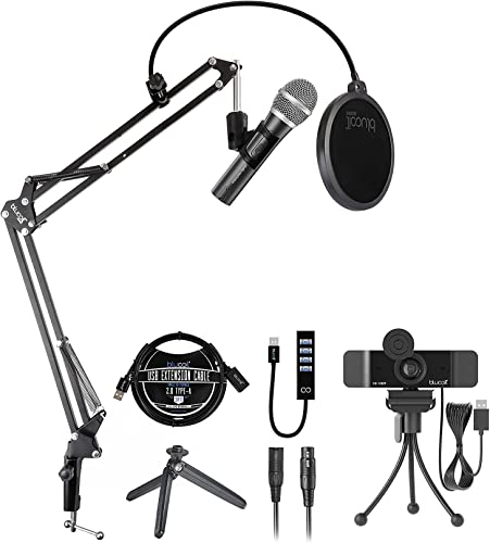 wholesale Audio-Technica ATR2100X-USB Cardioid Dynamic Microphone online sale (ATR Series) for Windows and Mac Bundle with Blucoil 1080p USB Webcam, Boom Arm Plus Pop Filter, USB-A Mini lowest Hub, and 3' USB Extension Cable sale