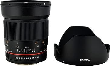 Rokinon 24mm F1.4 ED AS IF UMC Wide Angle Lens for Sony E-Mount (NEX) Cameras (RK24M-E)