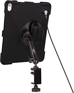 The Joy Factory MagConnect Carbon Fiber C-Clamp Mount w aXtion Bold MPS Water-Resistant Rugged Security Case for iPad Pro 12.9