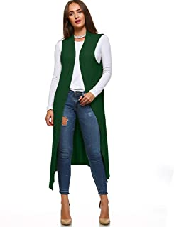 Isaac Liev Women's Sleeveless Lightweight Duster Vest