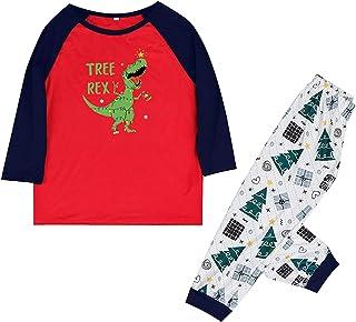 Conjunto de pijama a juego con diseño de dinosaurio personalizado y camiseta con pantalones de dos piezas a juego para papá, mamá, niños, bebé, padres e hijos