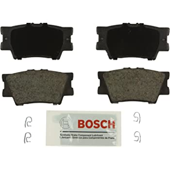 Bosch BE1212 Blue Disc Brake Pad Set for Select Lexus ES300h, ES350, HS250h; Pontiac Vibe; Toyota Avalon, Camry, Matrix, RAV4 - REAR