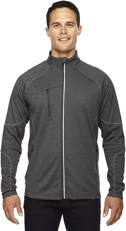 North End Mens Performance Fleece Jacket. 88174  XXXXLarge  Carbon Heather